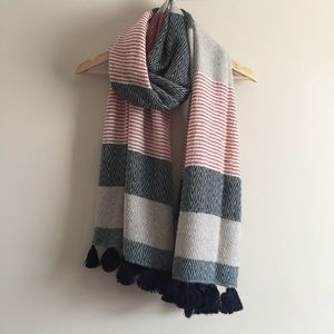 loft | pom pom stripe scarf